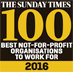 Sunday times 100 best not for profit organisations to work for 2016